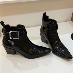 zara ankle boots with buckle
